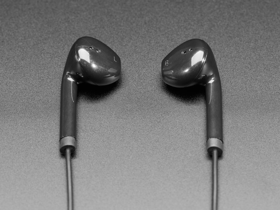 Detail shot of earbuds