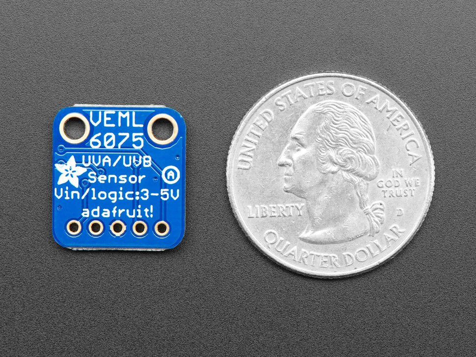 Adafruit VEML6075 UVA UVB and UV Index Sensor Breakout
