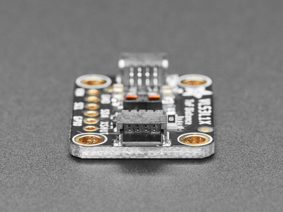 Side detail of JST-SH connector on Adafruit VL53L1X Time of Flight Distance Sensor.