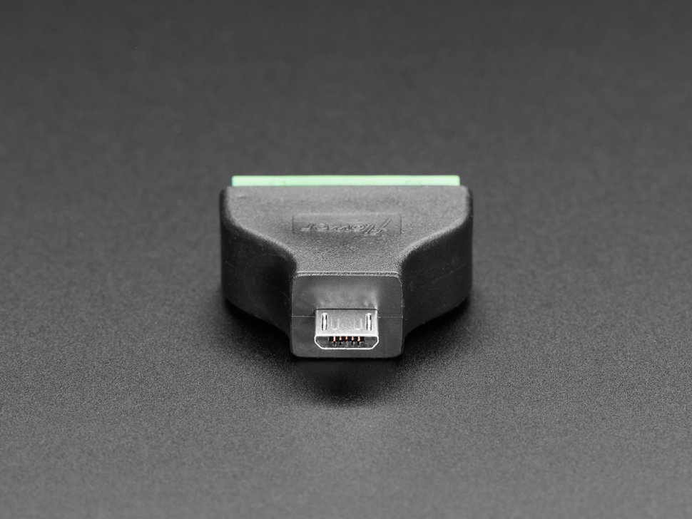 USB Micro B Male Plug to 5-pin Terminal Block