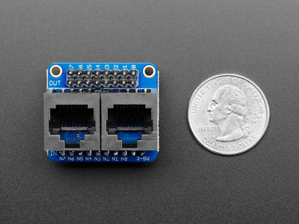 Adafruit NeoPXL8 Friend - 8 x Strands NeoPixel Level Shifter