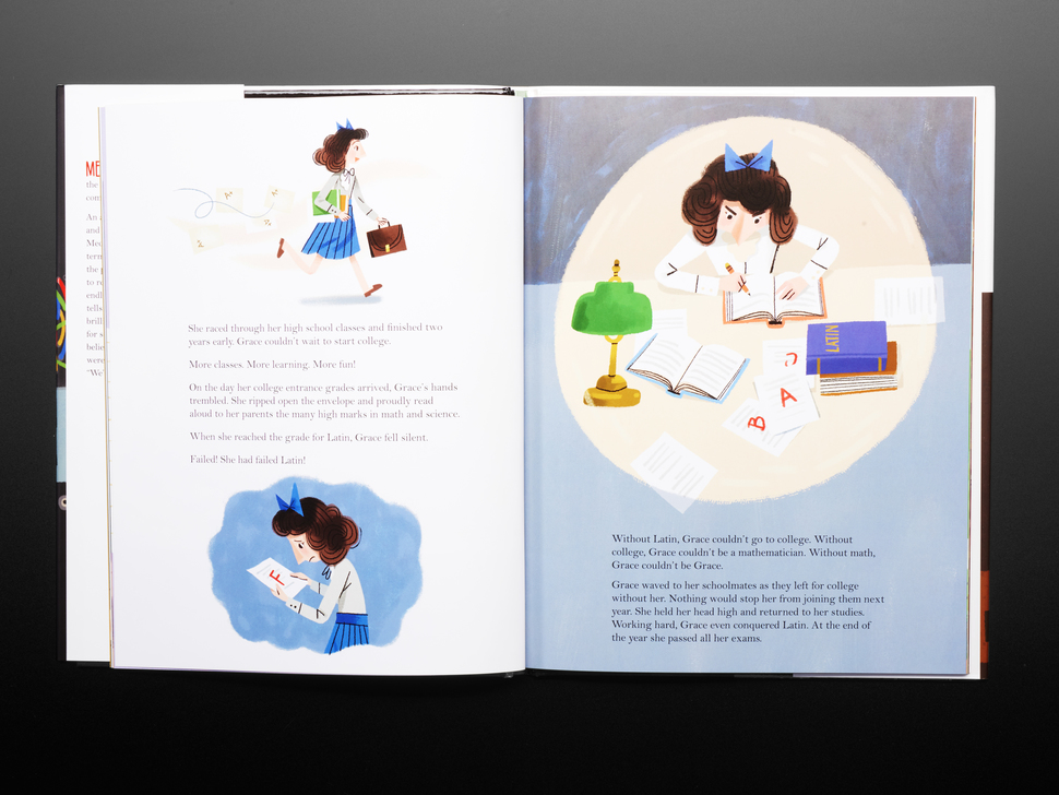 Grace Hopper: Queen of Computer Code by Laurie Wallmark - Illustrated by Katy Wu