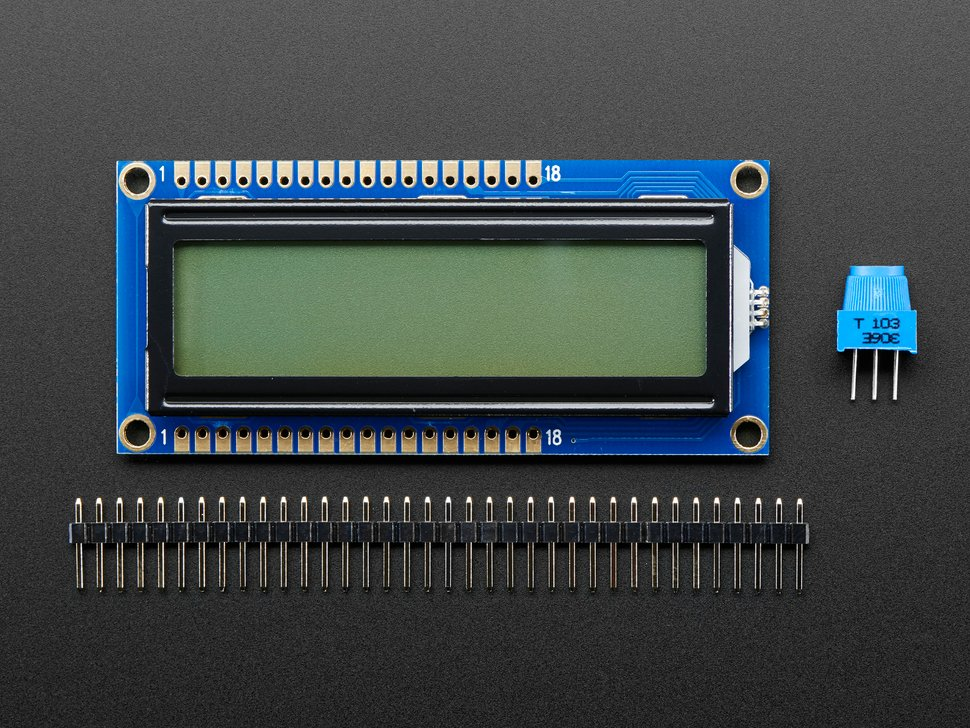 Character LCD with 16x2 characters, with header and potentiometer