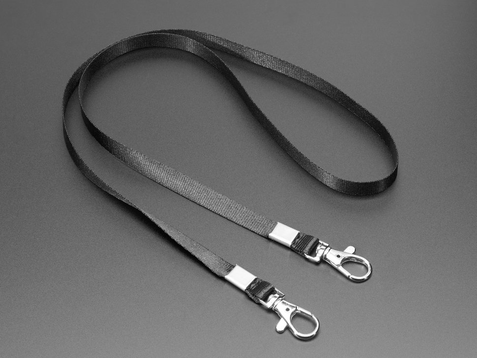 Double-Hook Lanyard in Adafruit Black