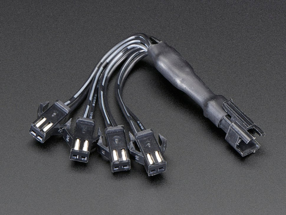 In-line wire 1-to-4 splitter