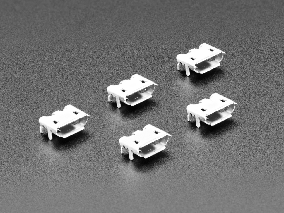 Micro B USB Connectors - Pack of 5