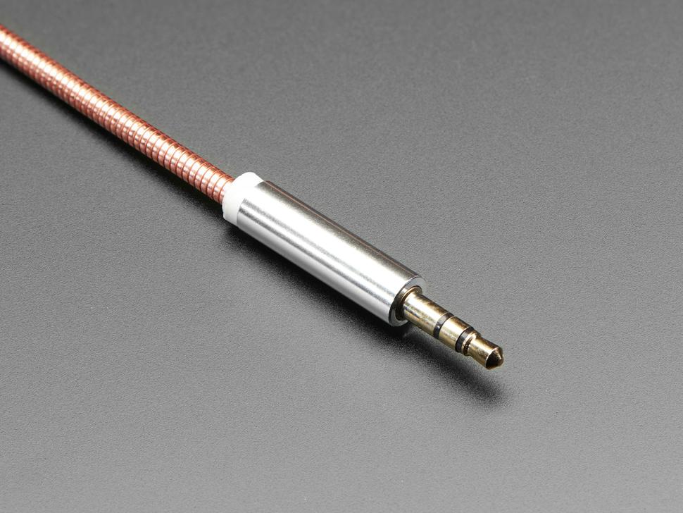 Close up of audio plug