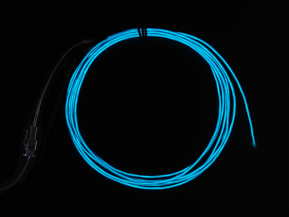 High Brightness Blue Electroluminescent (EL) Wire - 2.5 meters - High brightness, long life