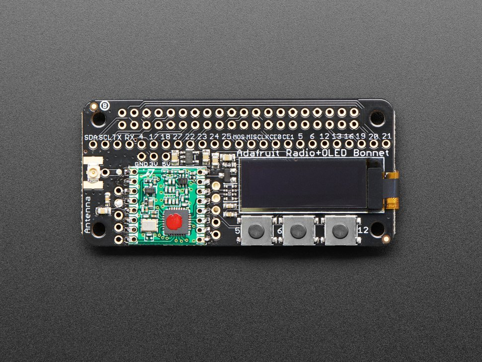 Adafruit Radio Bonnets with OLED - RFM69 or LoRa - RadioFruit