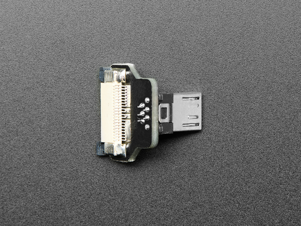 DIY USB Cable Parts - Right Angle Micro B Plug Up