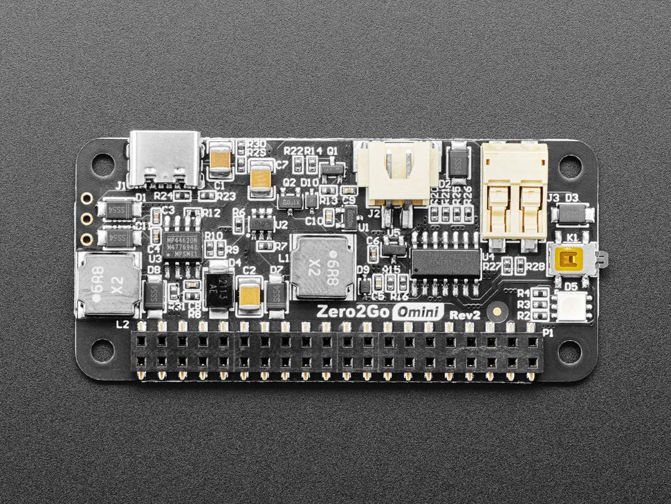 Top shot of the Zero2Go Omini – Multi-Channel Power Supply for Raspberry Pi