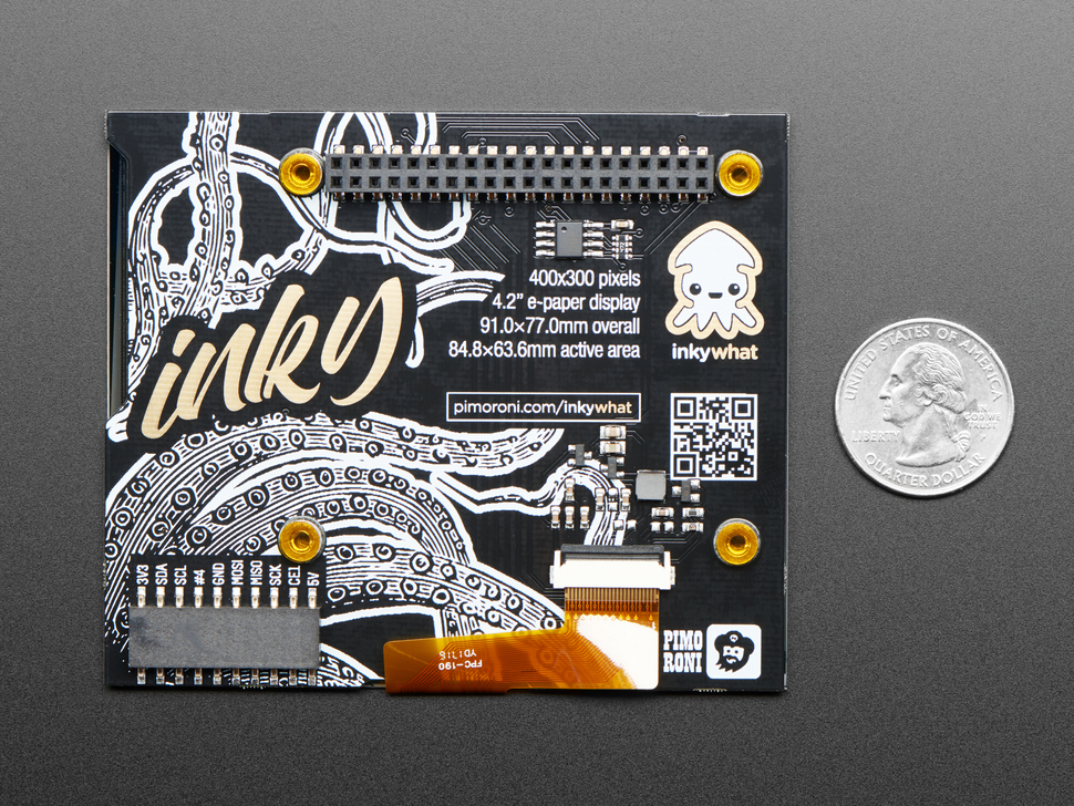 Pimoroni Inky wHAT (ePaper/eInk/EPD) - Black/White