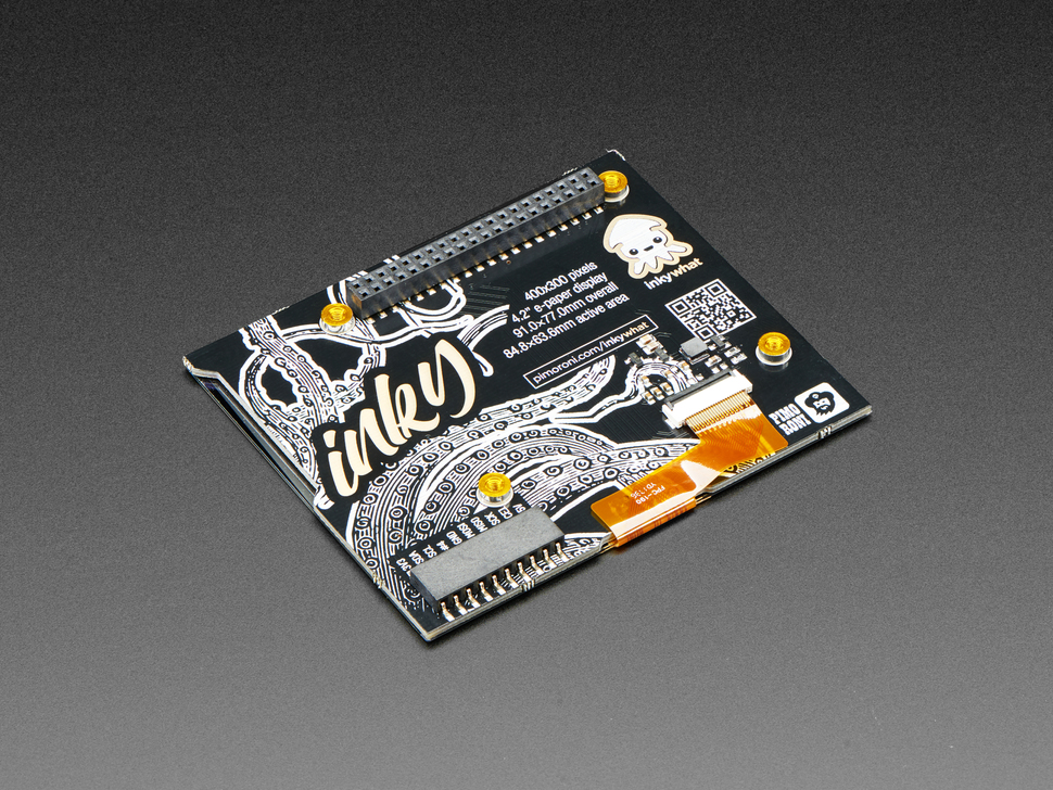 Pimoroni Inky wHAT (ePaper/eInk/EPD) - Red/Black/White