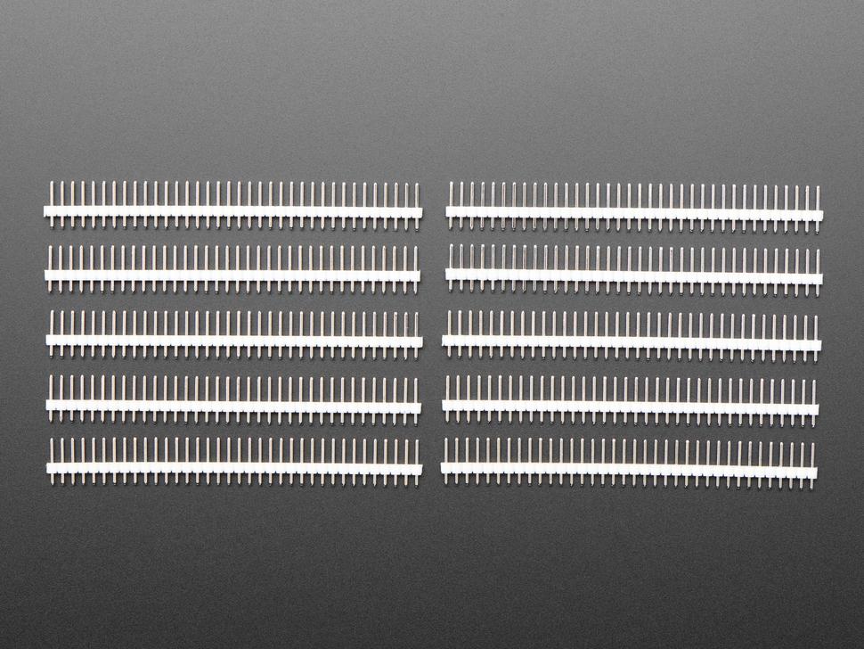 Break-away 0.1 inch 36-pin strip male header - White plastic