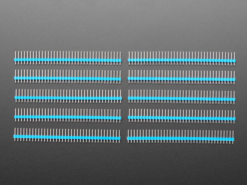 "Break-away 0.1"" 36-pin strip male header - Blue - 10 pack"