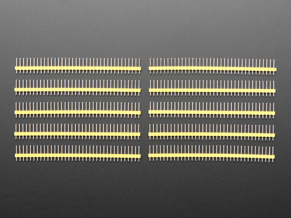 Break-away 0.1 inch 36-pin strip male header - yellow plastic