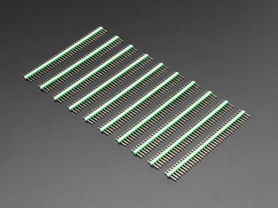 "Break-away 0.1"" 36-pin strip male header - Green - 10 pack"