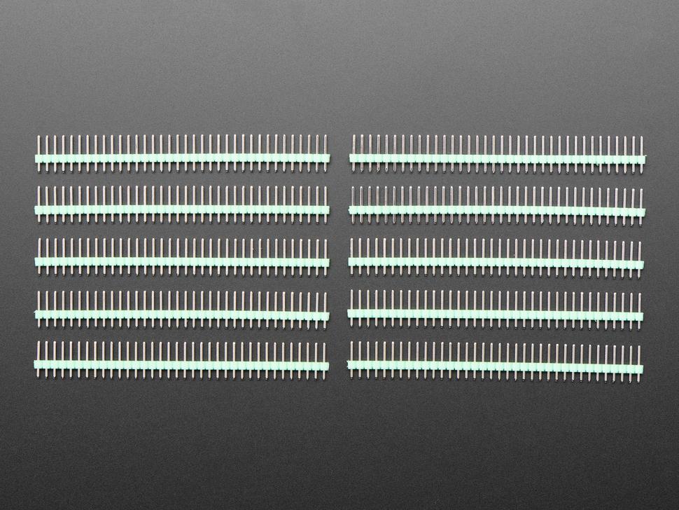 Break-away 0.1 inch 36-pin strip male header - Green plastic