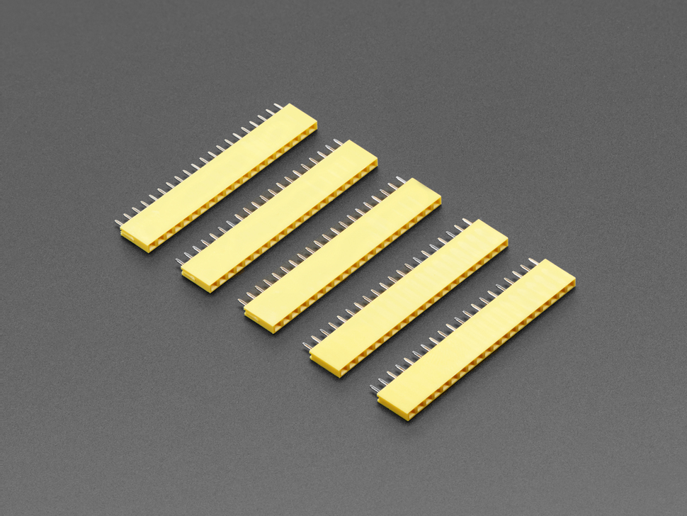 "20-pin 0.1"" Female Header - Yellow - 5 pack"