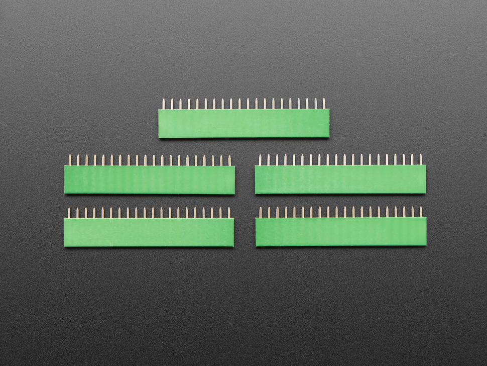"20-pin 0.1"" Female Header - Green - 5 pack"
