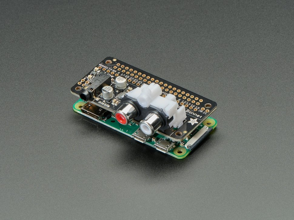 Dual RCA Jack for Adafruit I2S Audio Bonnet