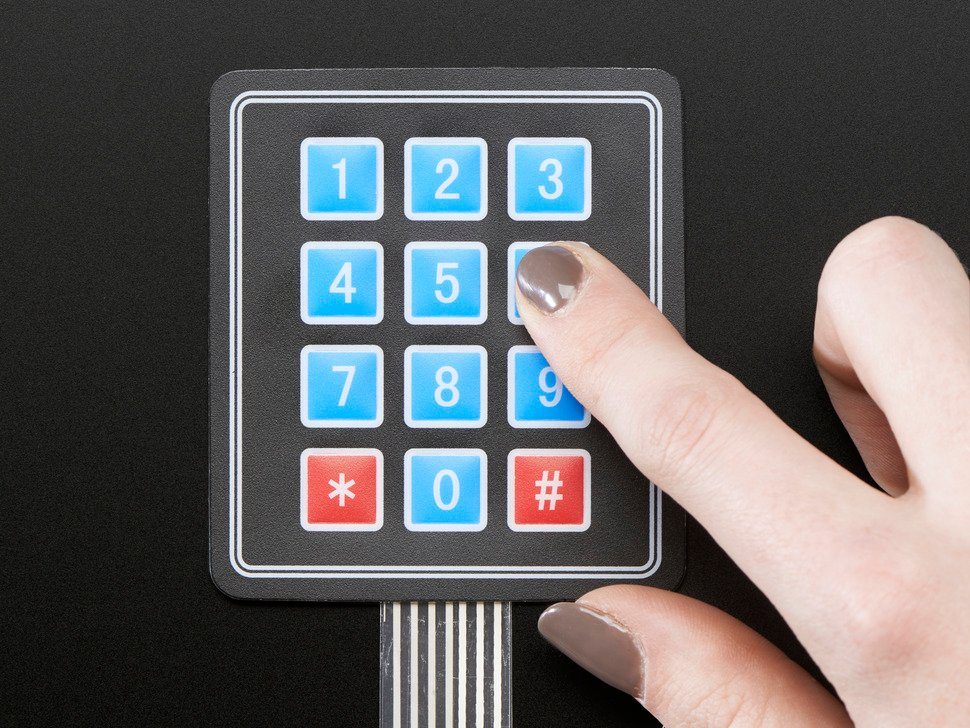 Membrane 3x4 Matrix Keypad + extras - 3x4