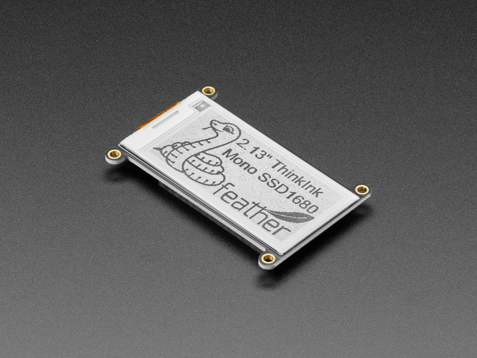 "Adafruit 2.13"" mono-Color eInk / ePaper Display FeatherWing"
