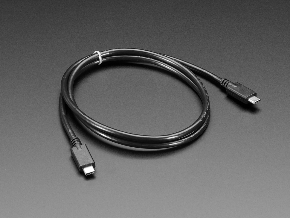 USB C to USB C cable. USB 3.1 gen 4 with E-Mark. 1 meter long