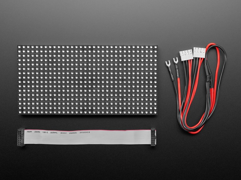 Medium 16x32 RGB LED matrix panel - 6mm Pitch