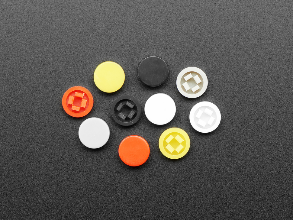 Plastic Button Caps For Square Top (10-pack) - 8mm Diameter