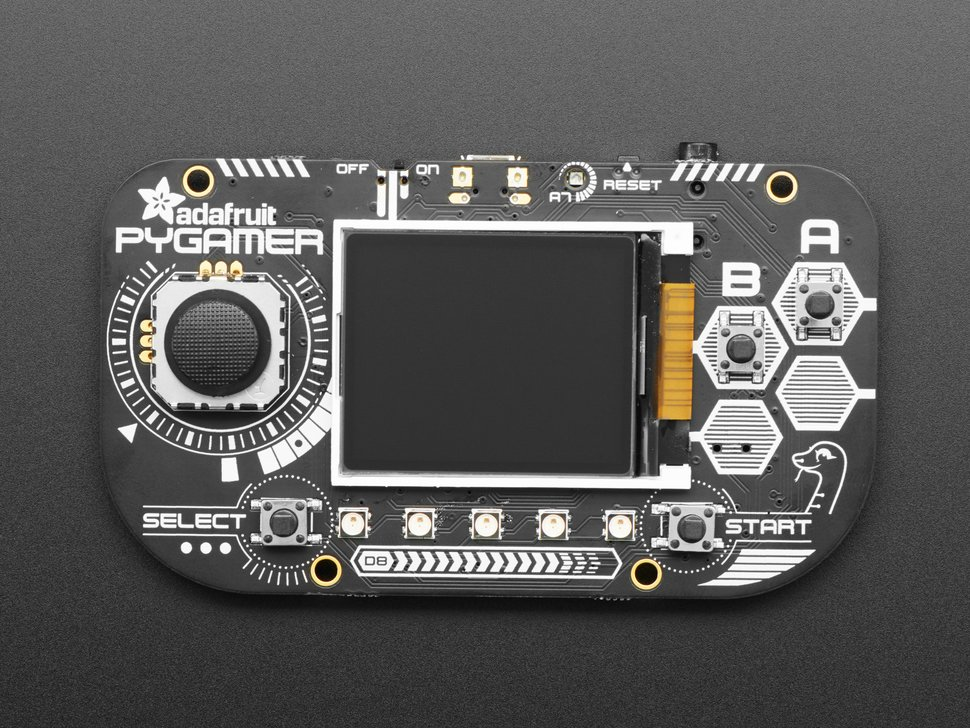 Adafruit PyGamer for MakeCode Arcade, CircuitPython or Arduino