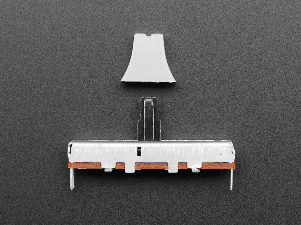 Slide Potentiometer with Plastic Knob - 35mm Long - 10KΩ