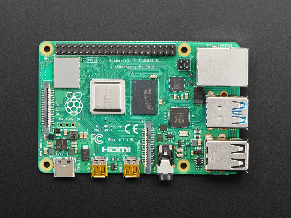 Top down of  Raspberry Pi 4