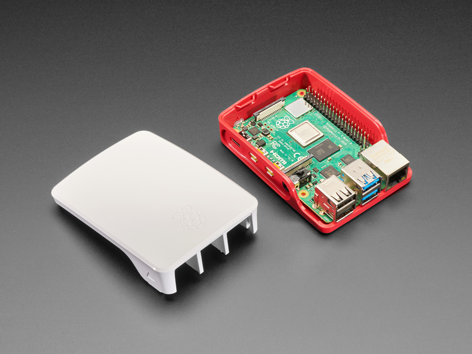 Official Raspberry Pi Foundation Raspberry Pi 4 Case - Red White