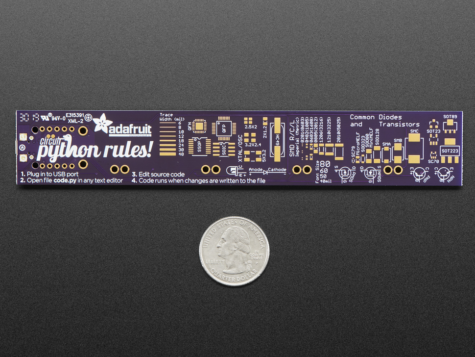 Adafruit PyRuler - Engineer Reference Ruler with CircuitPython