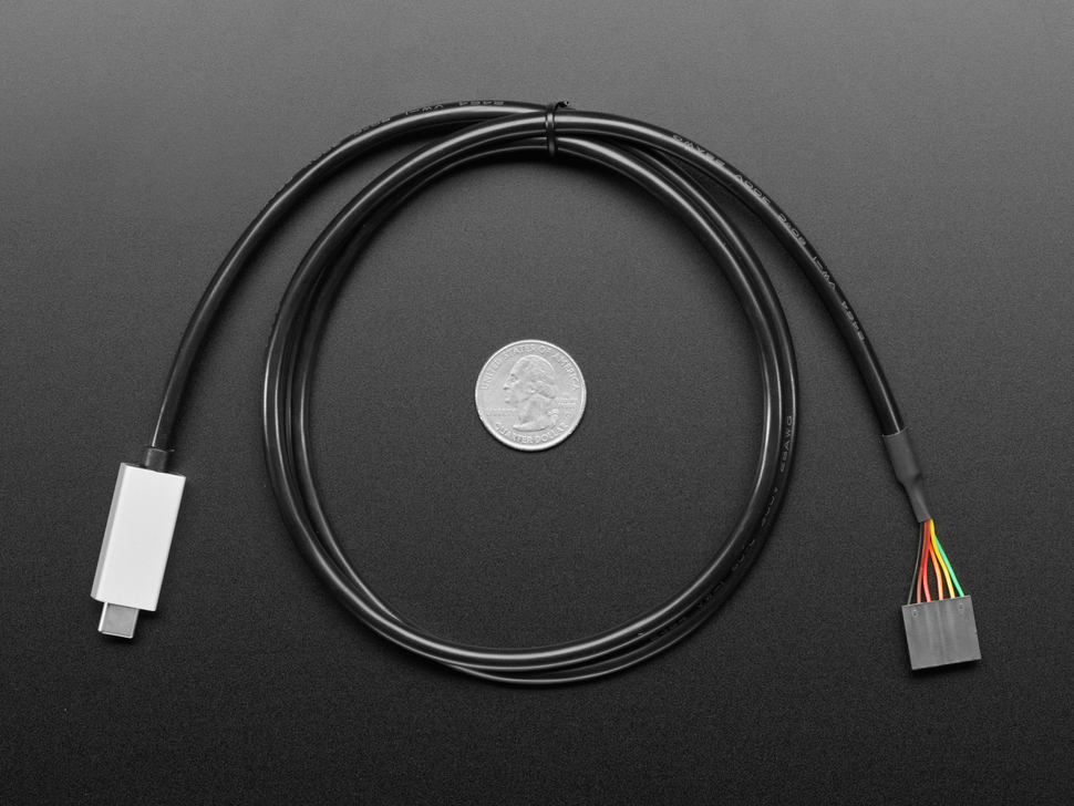 FTDI Serial TTL-232 USB Type C Cable - 3V Power and Logic