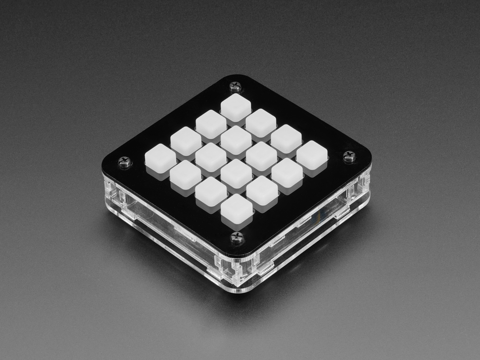 Adafruit 4x4 Trellis Feather Acrylic Enclosure + Hardware Kit