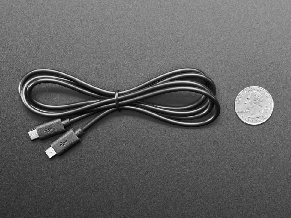 MakeCode Sync Cable - micro B USB to micro B USB - 1 meter long