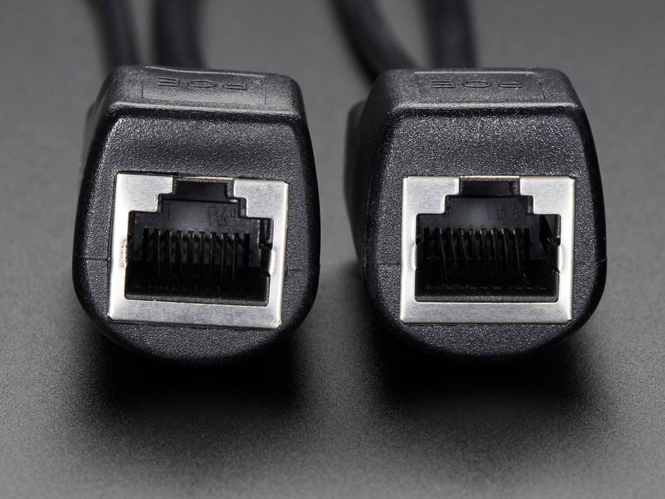 Close up of Ethernet jacks