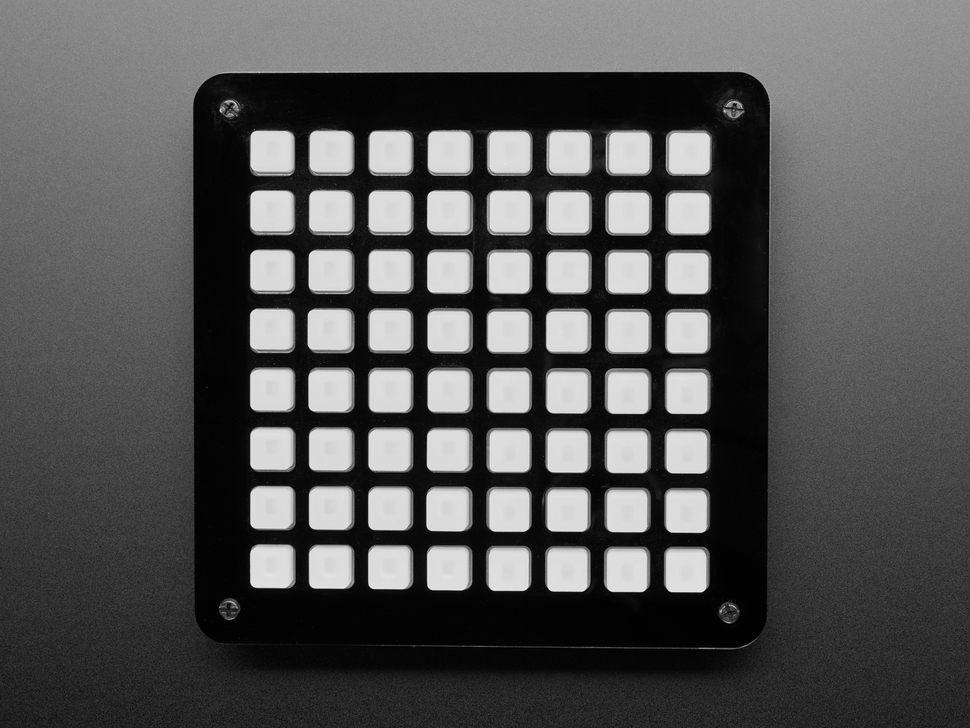 Adafruit 8x8 Trellis Feather M4 Acrylic Enclosure + Hardware Kit