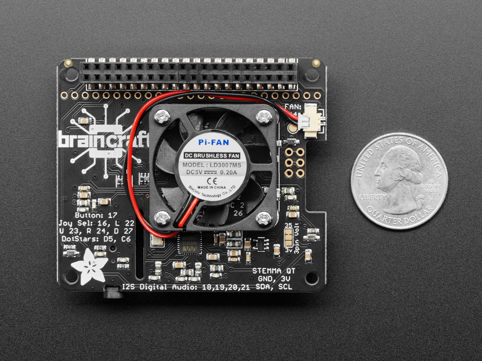 Adafruit BrainCraft HAT - Machine Learning for Raspberry Pi 4