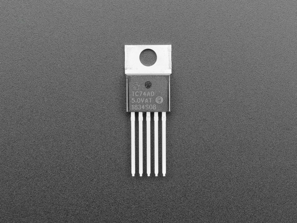 Breadboard Friendly I2C Temperature Sensor - TC74A0 - TC74A0-5.0VAT