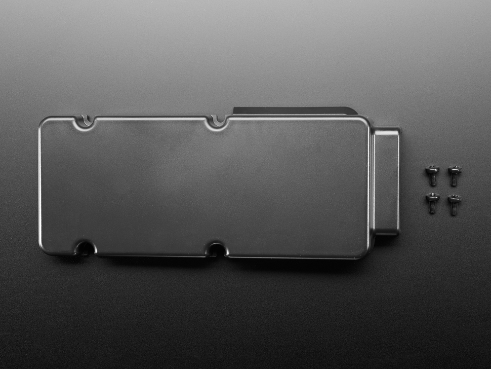 Topdown shot of small 15mm back cover for smarti pi 2 touch display stand.