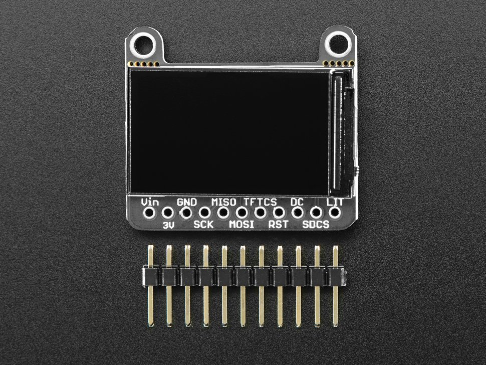 "Adafruit 1.14"" 240x135 Color TFT Display + MicroSD Card Breakout - ST7789"
