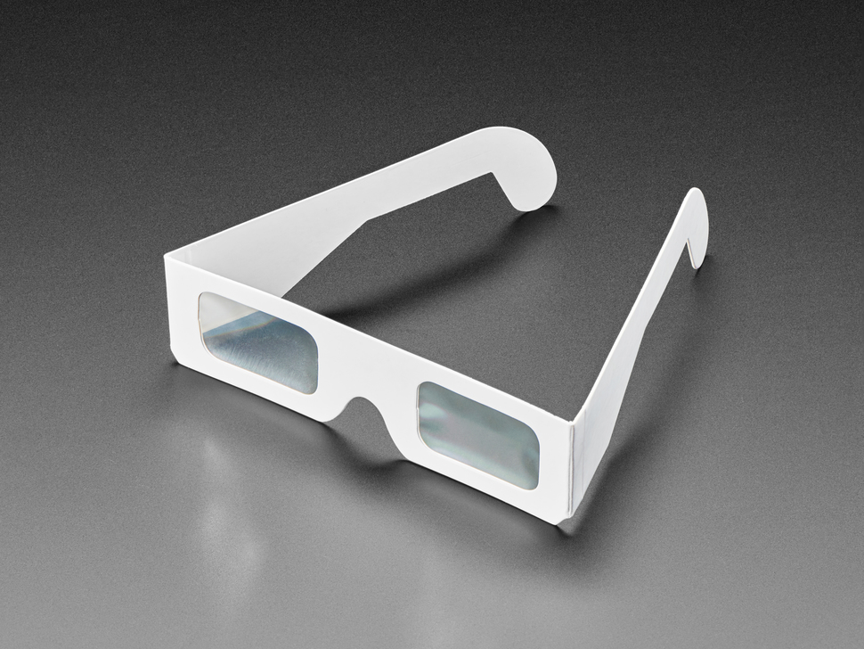 Paper Diffraction Grating Glasses