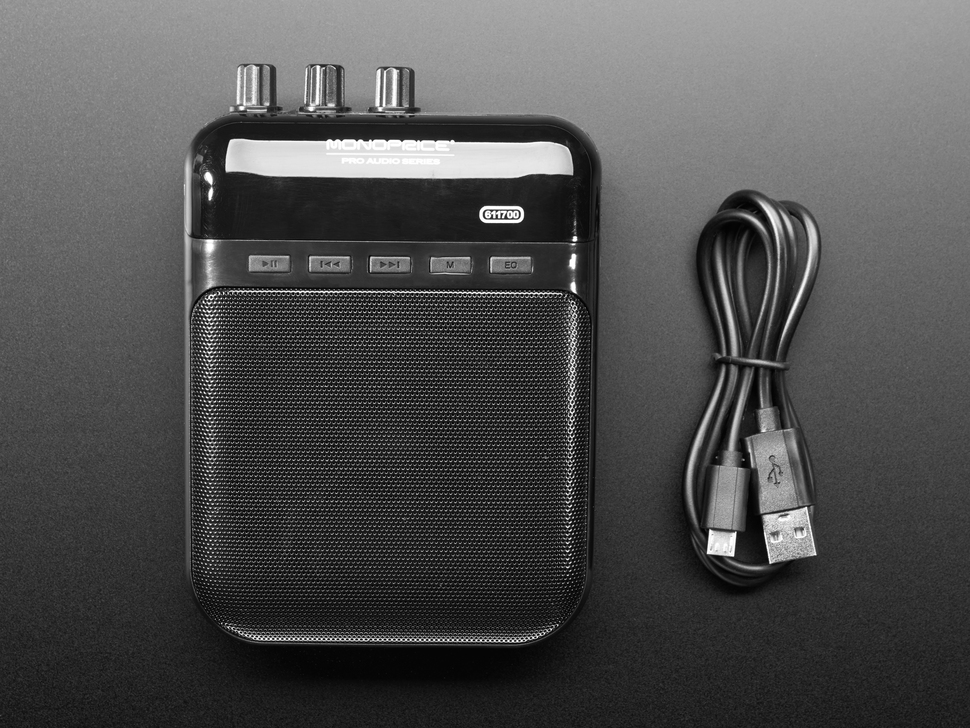 Monoprice 5-Watt Guitar Amplifier, Portable Recorder - with SD, USB and 3.5mm Audio