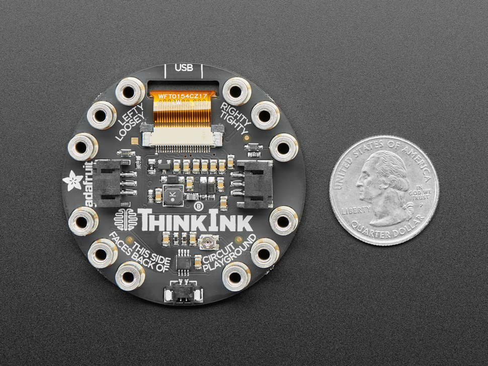 Circuit Playground Tri-Color E-Ink Gizmo - E-Ink Display + Audio Amplifier