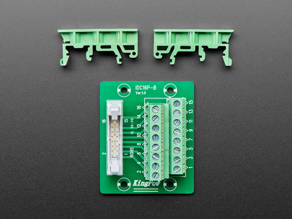 Disassembled DIN Rail mount