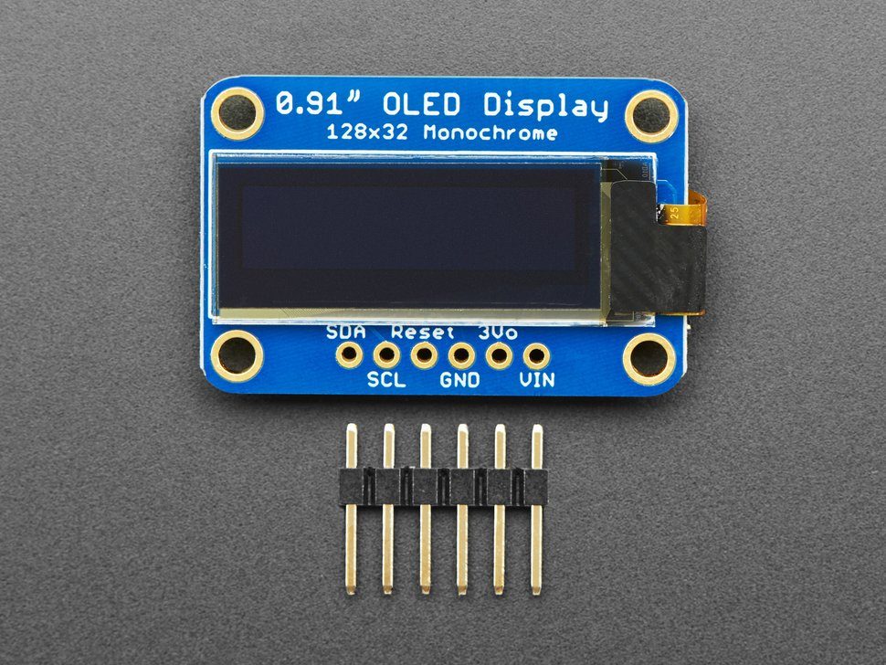 Top down of OLED with loose header