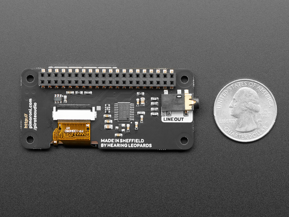 Pimoroni Pirate Audio: 3.5mm Line-out for Raspberry Pi